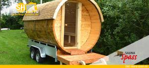 Sauna-Spaß - Mobile Fasssauna
