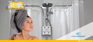 Clever Shower Halterung für Duschvorhänge