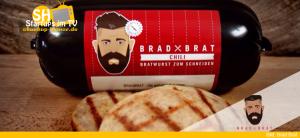 Brad Brat Bratwurst zum Schneiden