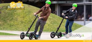 Scuddy Elektro-Roller mit Faltsystem