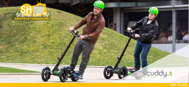 Scuddy elektro roller die h hle der l wen startup humor Der roller