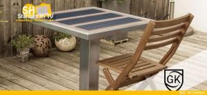 GK Electrics Solartisch mit Ladestation